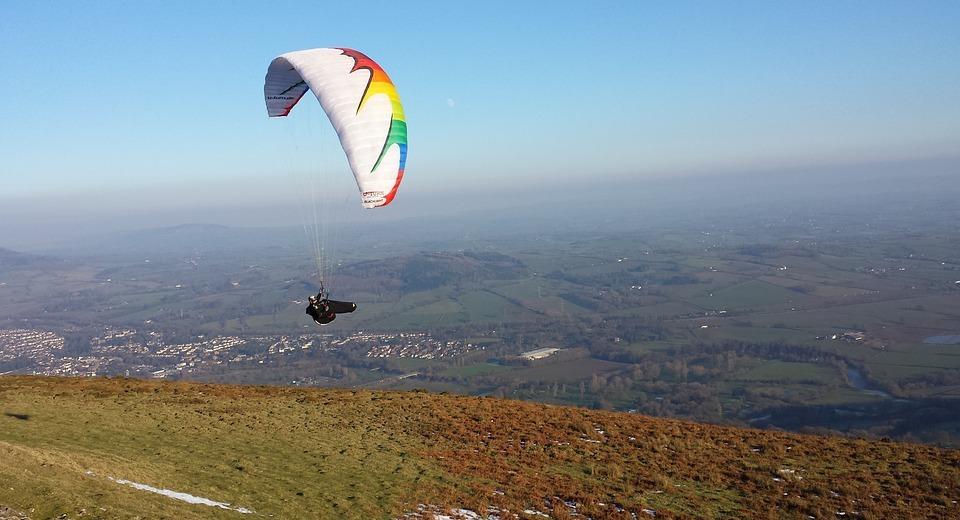 paragliding, glider, sport