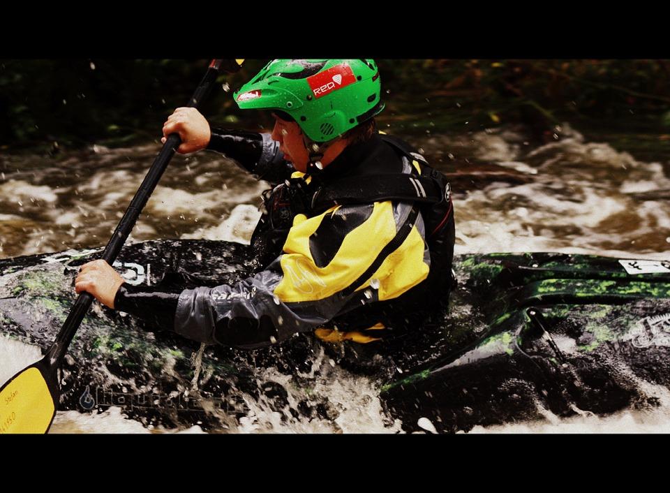 kayak, water, paddle