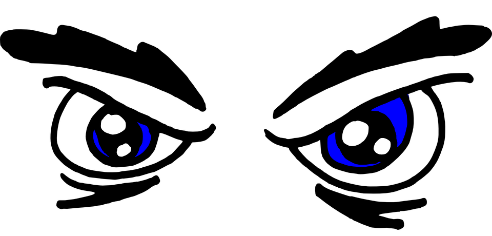 angry, face, eyes