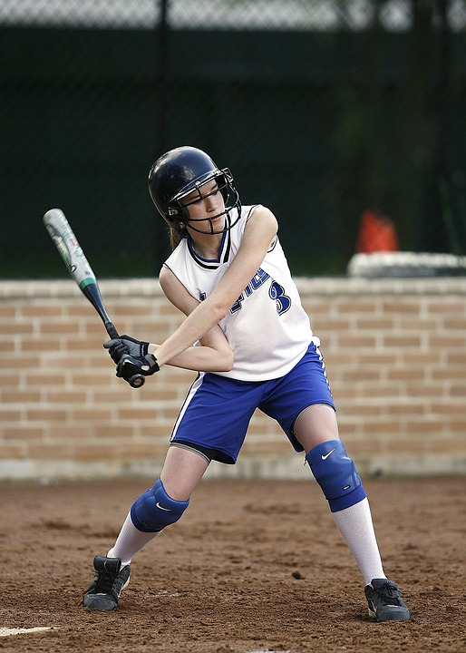 softball, batter, female