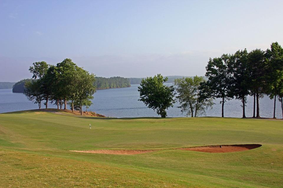 golf, green, golfing