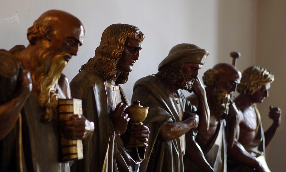 sculpture, the apostles, wooden