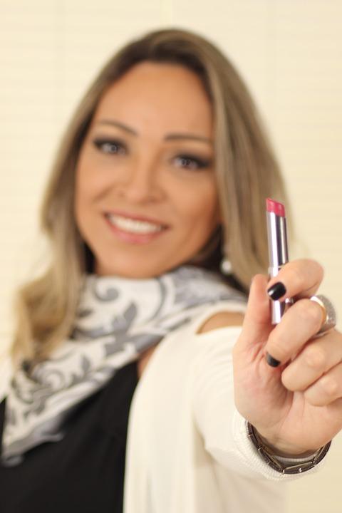 happy people, cosmetics, lipstick