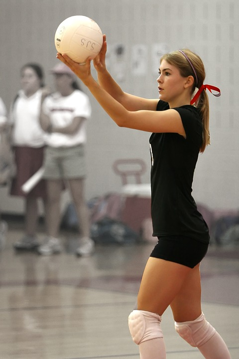 volleyball, serving, player