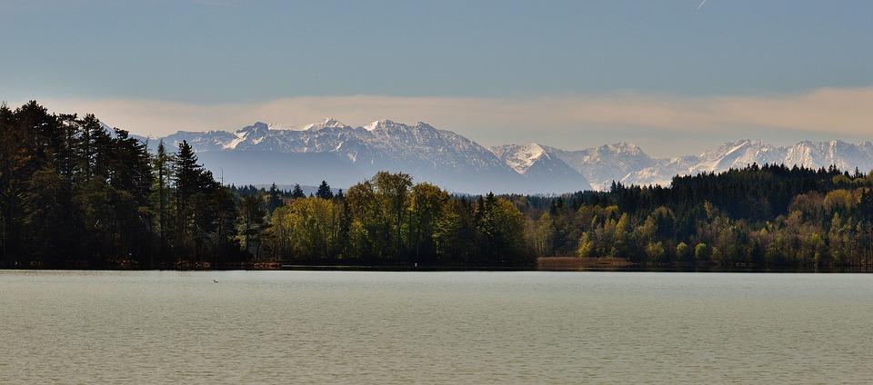landscape, easter lake, iffeldorf