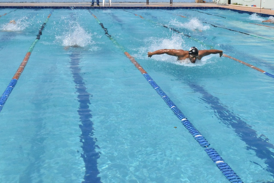 competition, swimming, competing