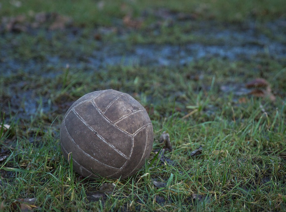 old, ball, volleyball