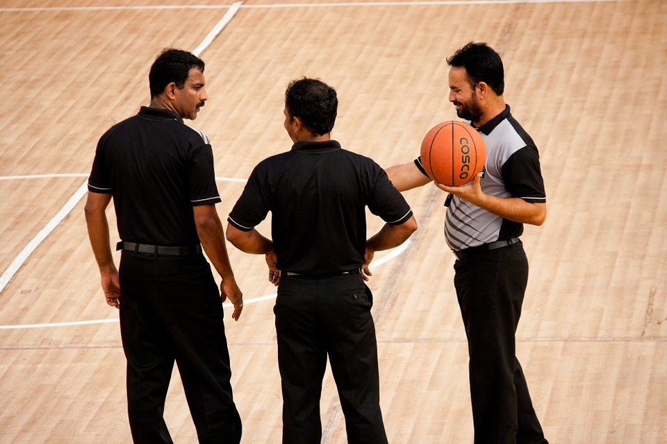 referees, basketball, game