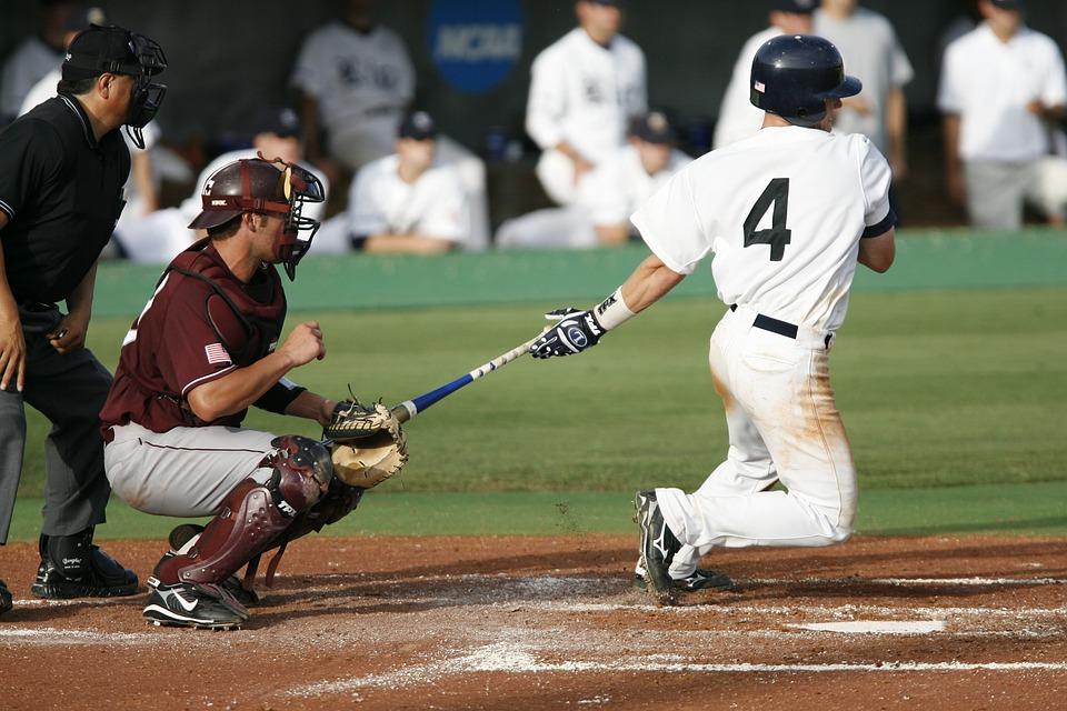 baseball, swing, home run