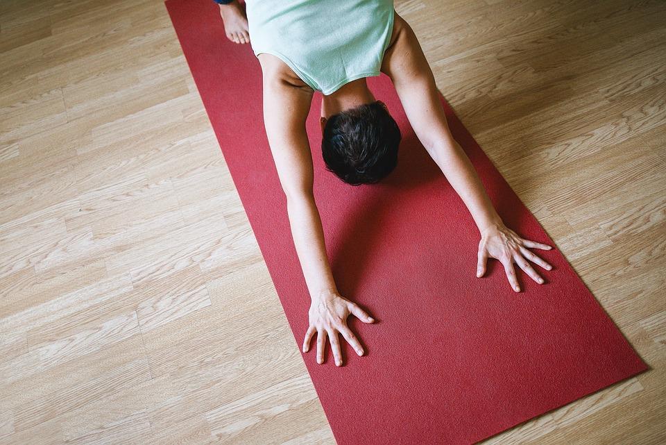 yoga, girl, asana