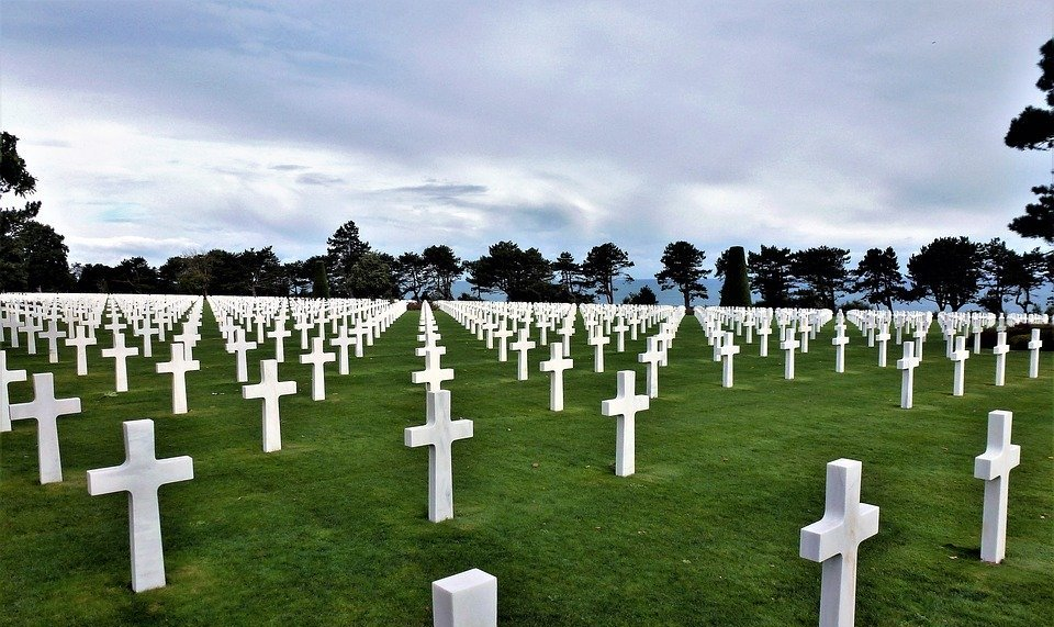 france, normandy, cemetery