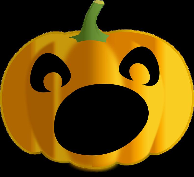 scared jack-o-lantern, jack-o-lantern, halloween