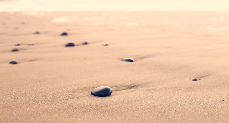 pebbles, sand, beach