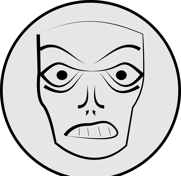 angry, mask, face