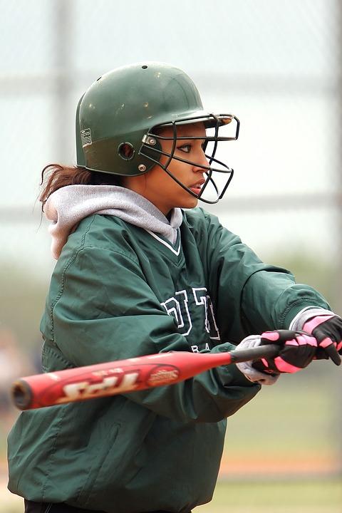 softball, girls, batter