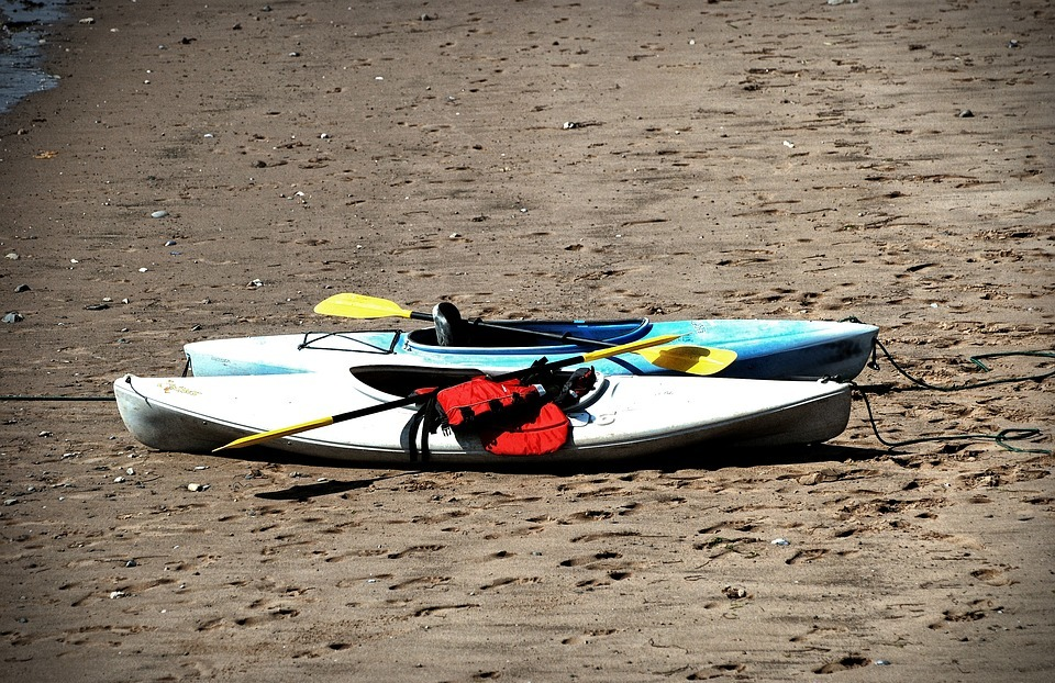 kayak, shore, sport