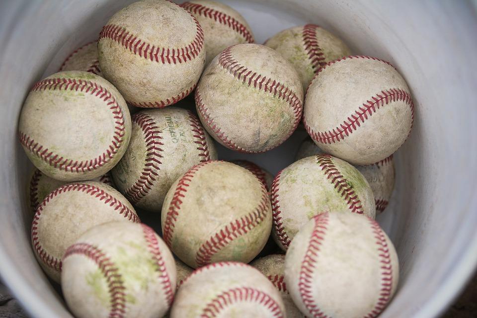 baseballs, bucket, sport