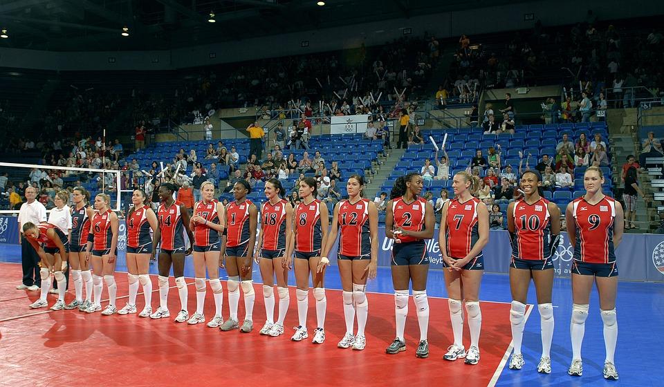 volleyball team, women, sport