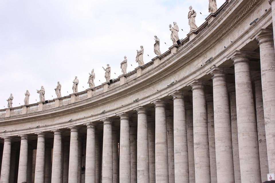 rome, vatican, columns