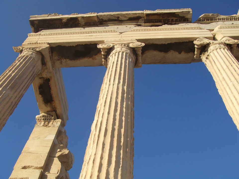 greece, column, arch