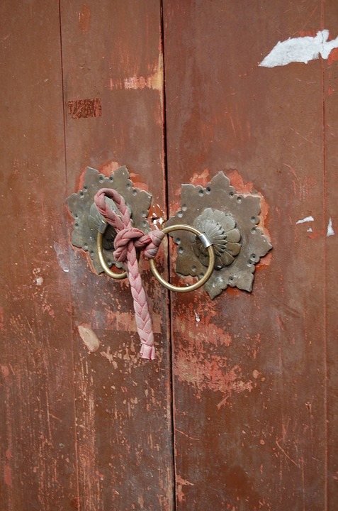 lock, door, artistic conception