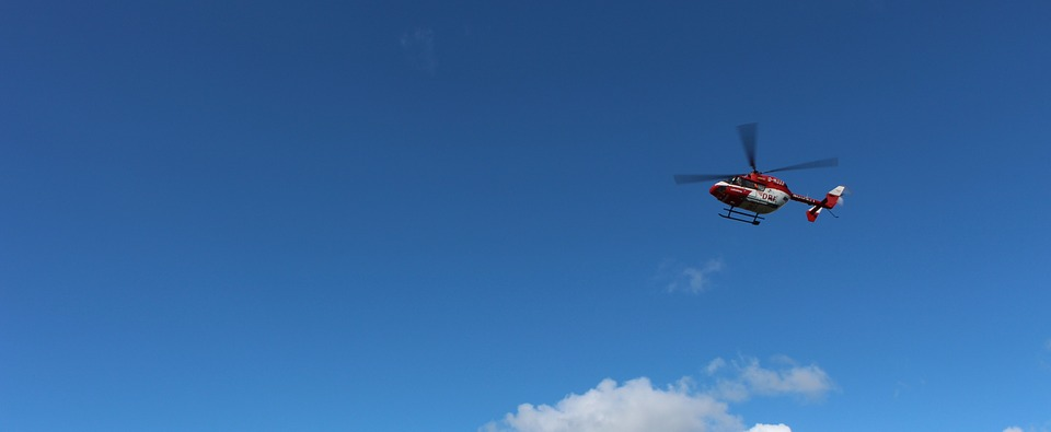 helicopter, sky, clouds