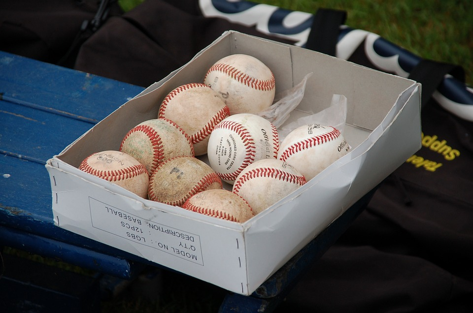baseball, ball, box