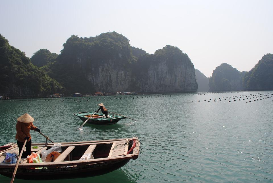 fishing boats, china, asia