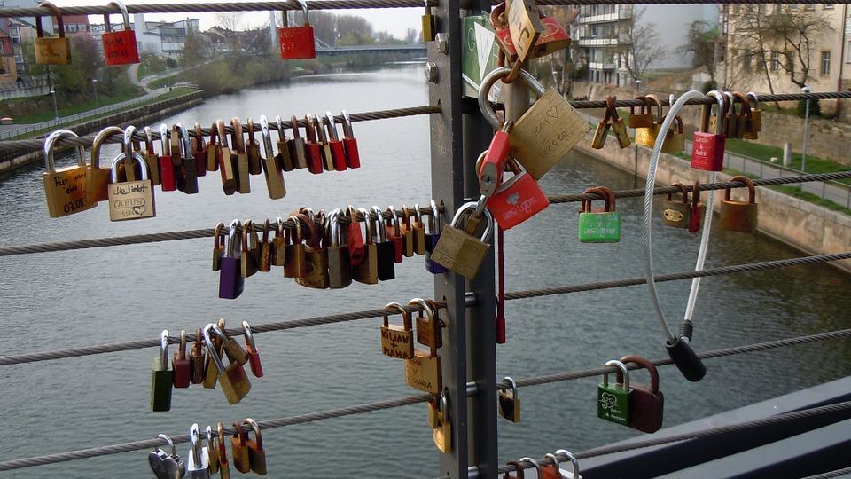 locks, bridge, romantic