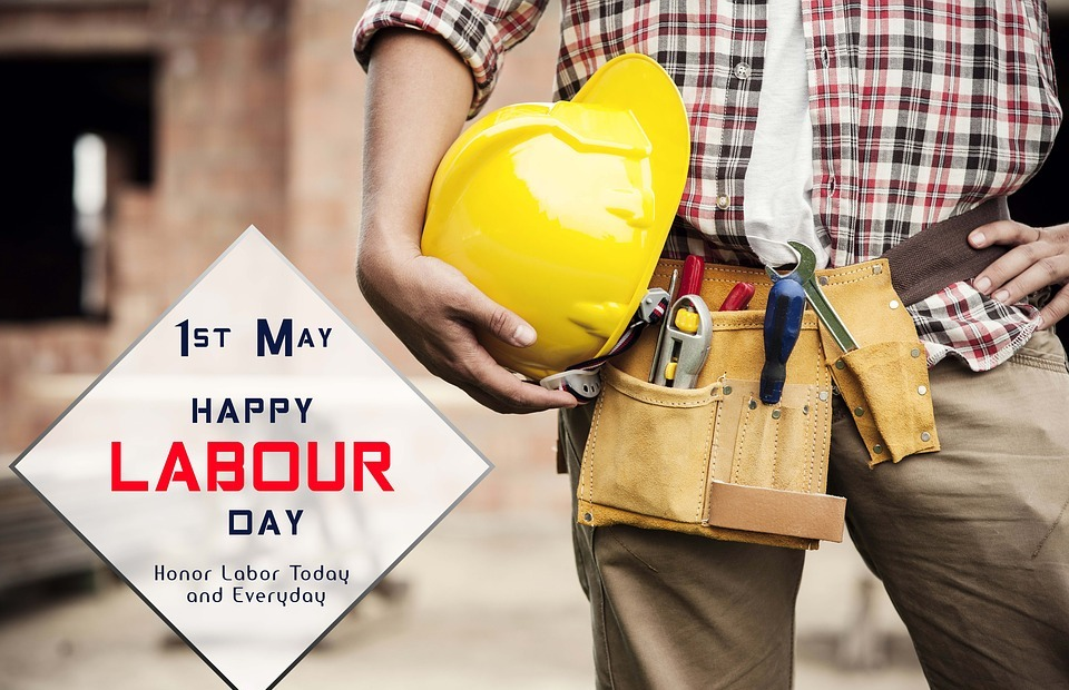 labor day, 1st may, banner