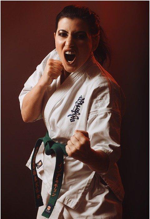 karate, kick, fighter