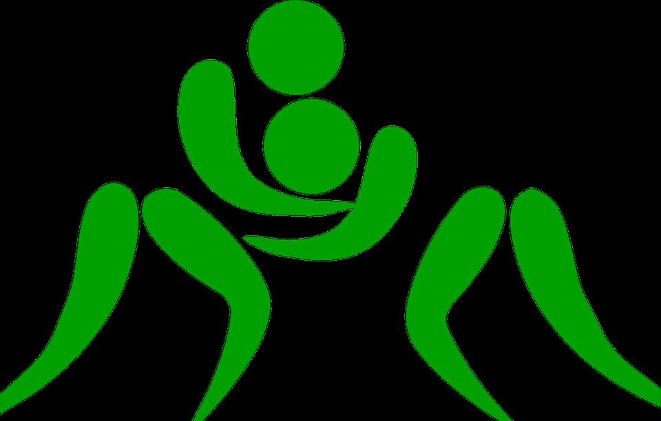wrestling, pictogram, sports