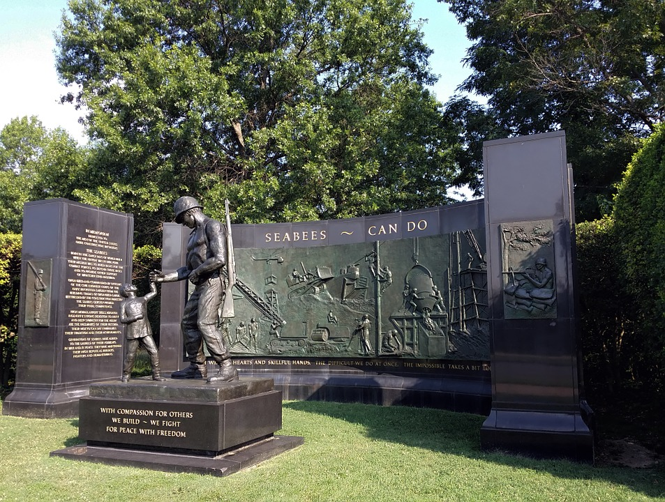 monument, korean war, memorial