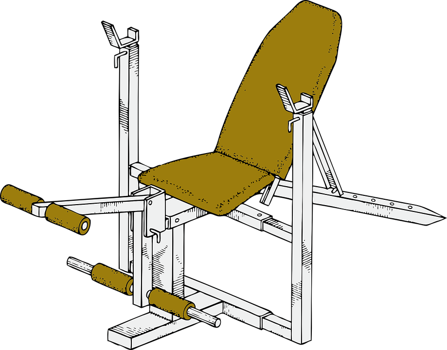 exercise bench, workout, exercise equipment