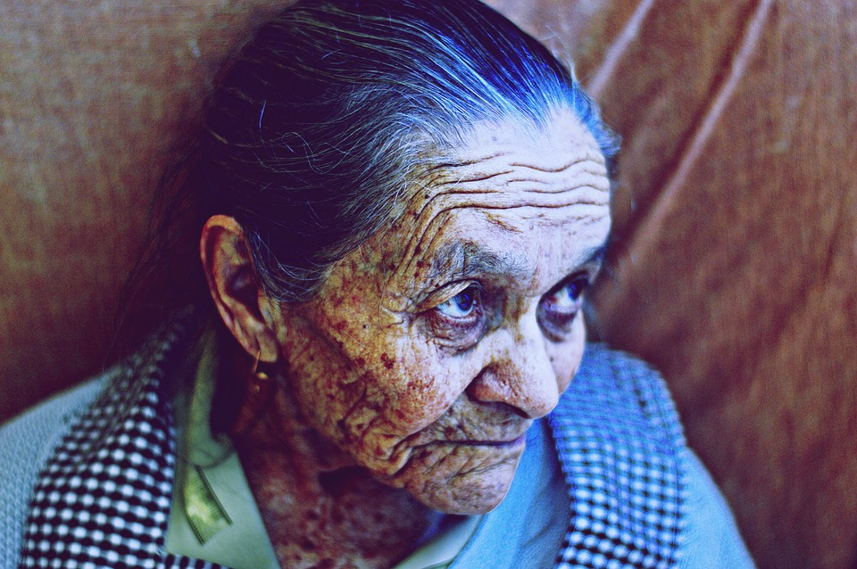 woman, old, aged