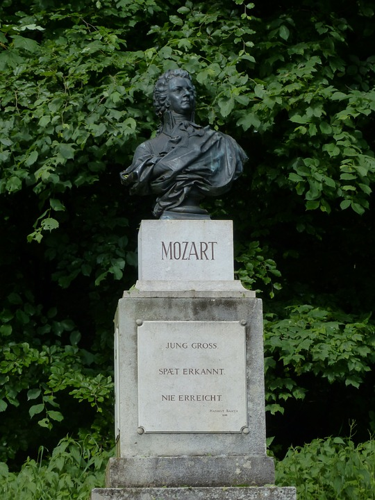 mozart, statue, monument