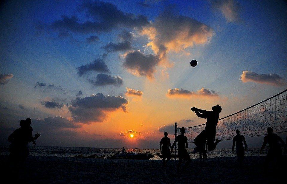 volleyball, game, beach