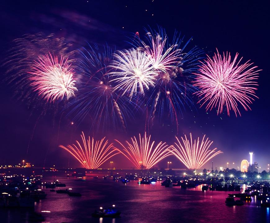 fireworks, lights, show