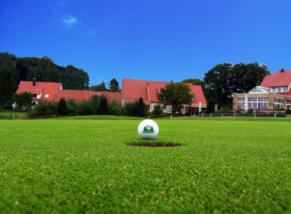 golf ball, golf, golf hole