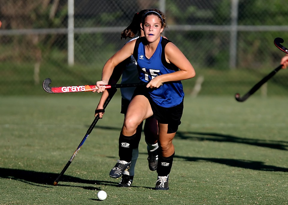 field hockey, game, action
