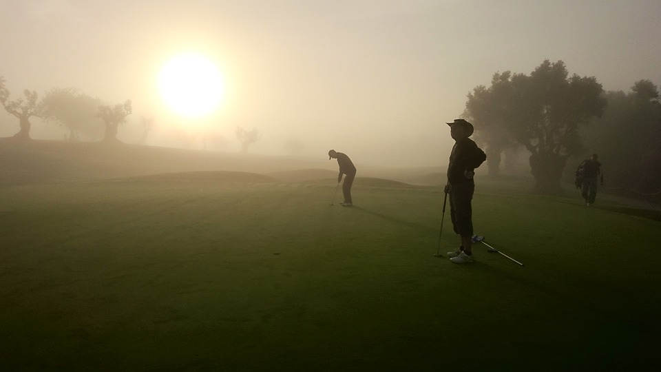 golf, morning haze, portugal