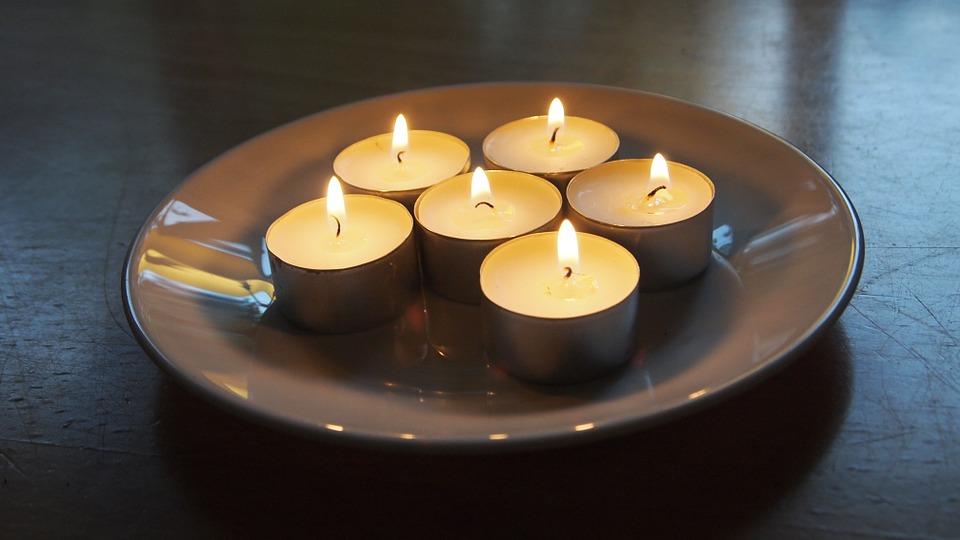 candles, tea light, board