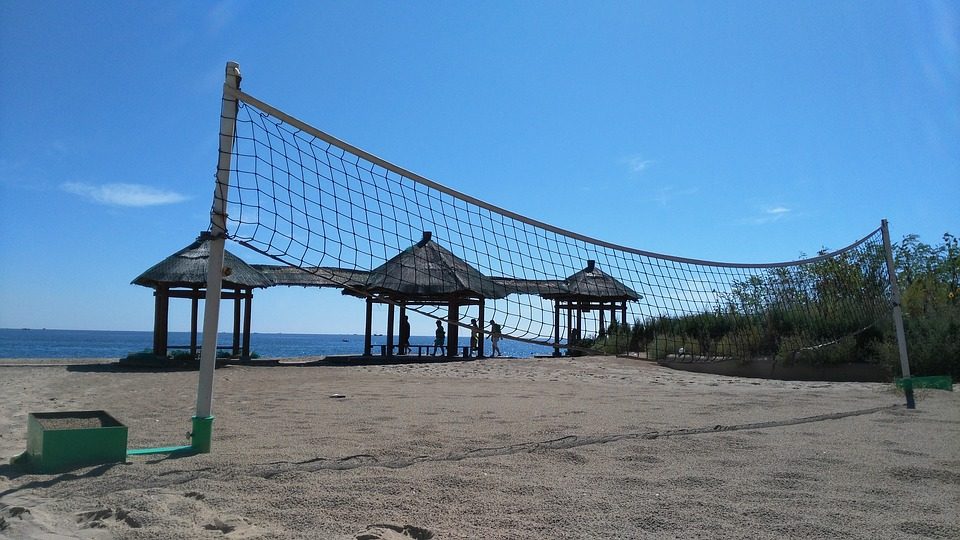 volleyball, net, idle