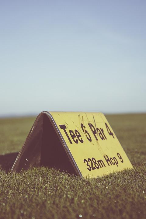golf, golf course, tee