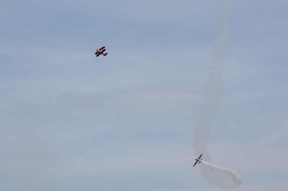 airplanes, flying, air show