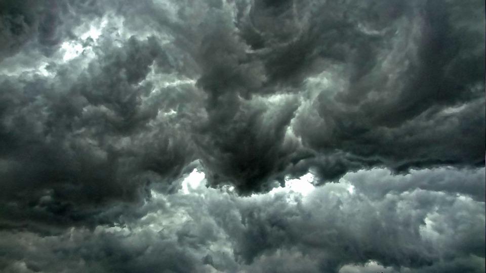thunderstorm, cloud roller, turbulence