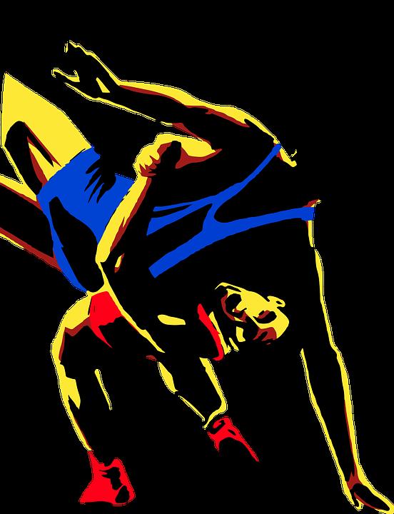 wrestling, sport, men
