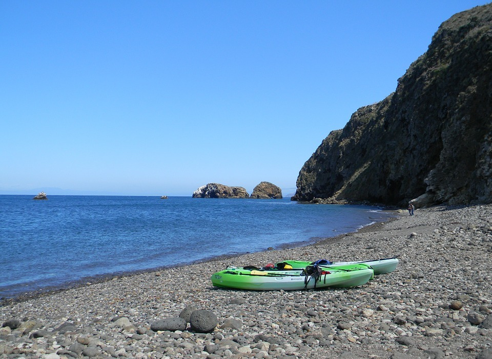 kayak, kayaks, beach