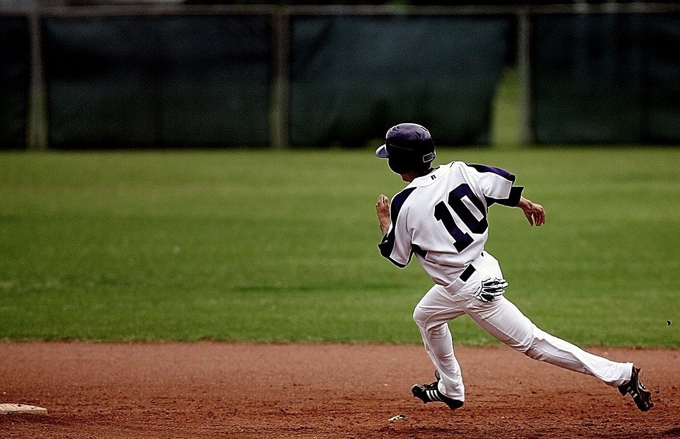baseball, runner, action