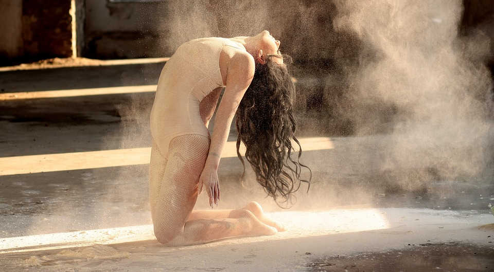 dancer, flour, motion